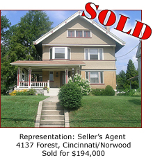 Cincinnati Residential Real Estate Home Sale